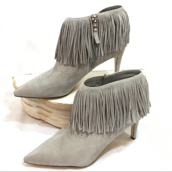 f3c78a248 Sam Edelman Shoes - Sam Edelman Kandice Fringe ankle bootie Winter Sky